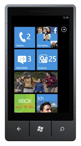 Startscreen Windows Phone 7